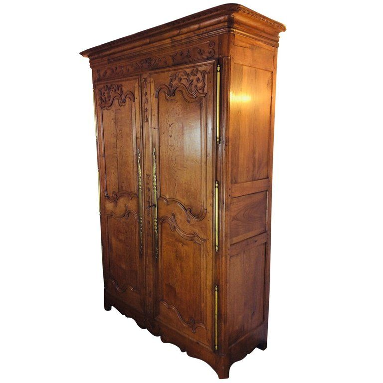 19th Century Louis Xv Oak Armoire From Normandy France With Images Oak Armoire Bath Linens