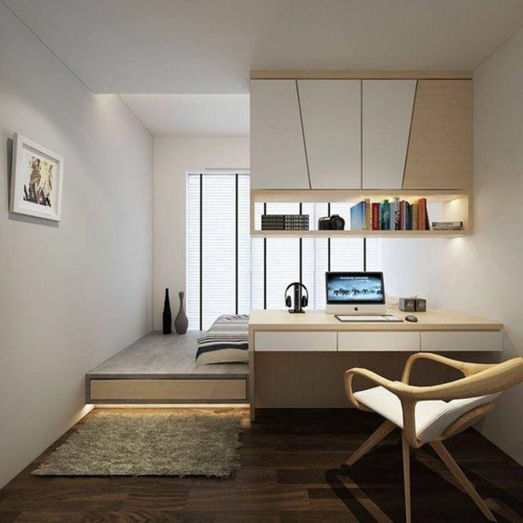 style minimaliste chambre studio | Minimalist apartment decor