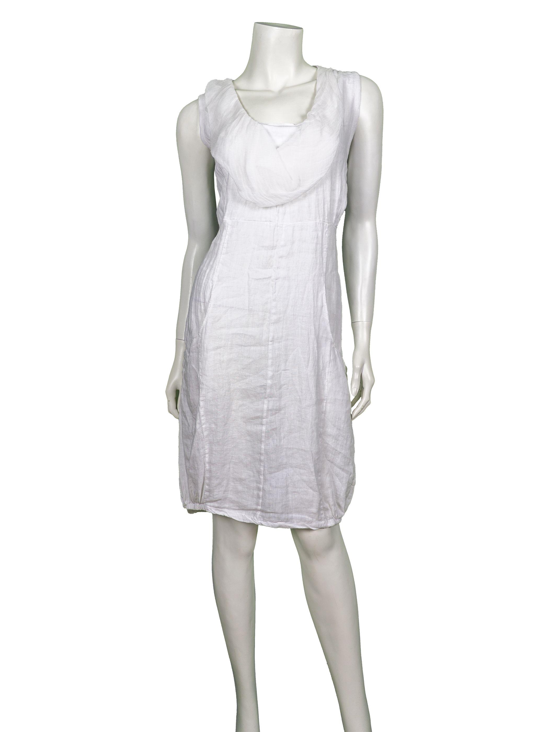 tunikakleid aus leinen, weiss - online shop meinkleidchen.de