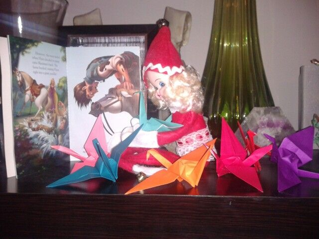 The first day we met Morna Jingles. Elf on a shelf