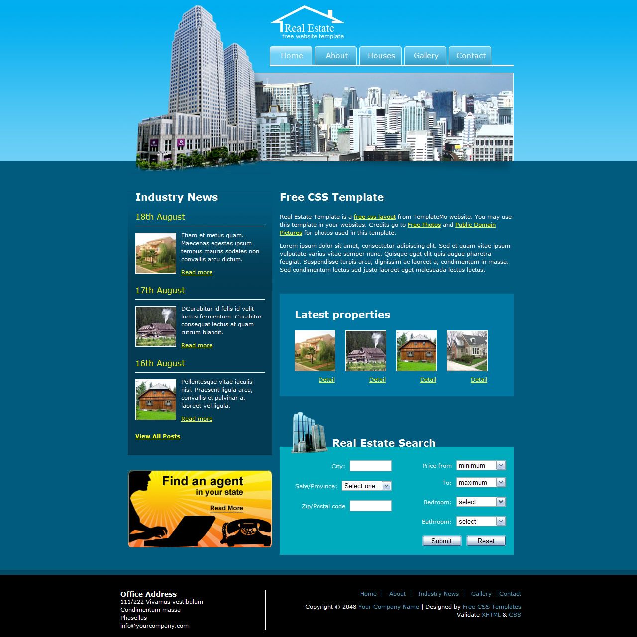 Real Estate Website Template Free Responsive website design is a ...