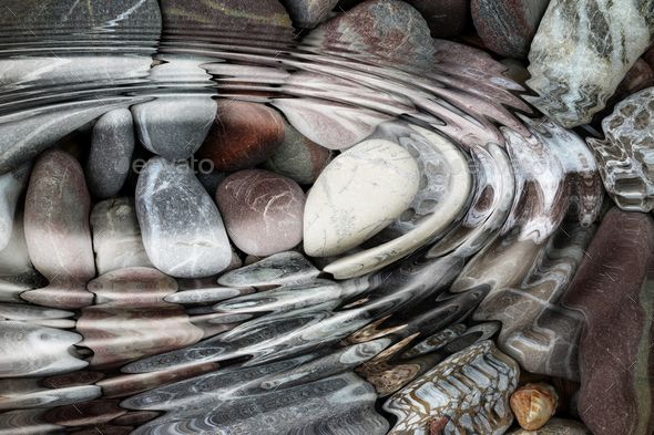 Water ripples over the stone pebbles - Stock Photo - Images #waterripples