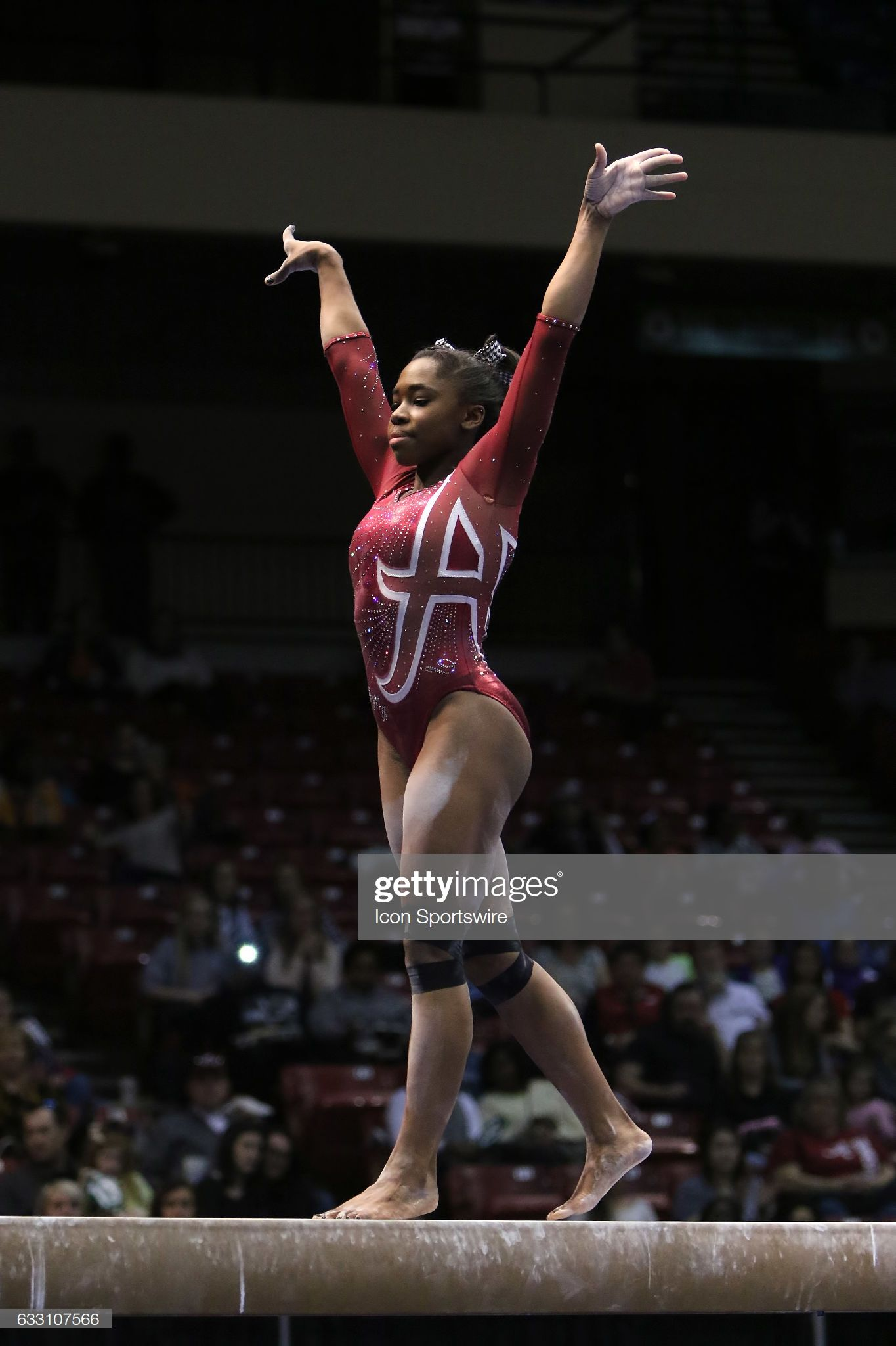 Alabama Crimson Tide Kiana Winston performs on the balance ...