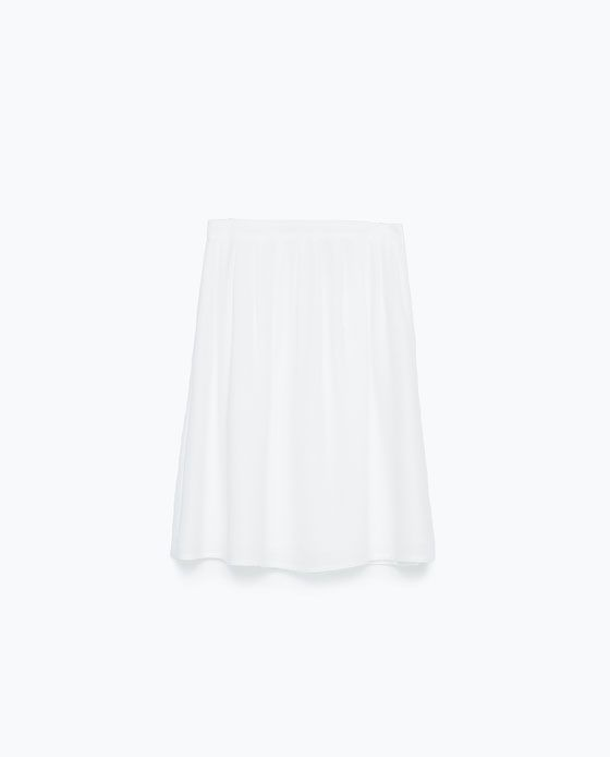 ZARA - NEW THIS WEEK - STRUCTURED PLEATED SKIRT