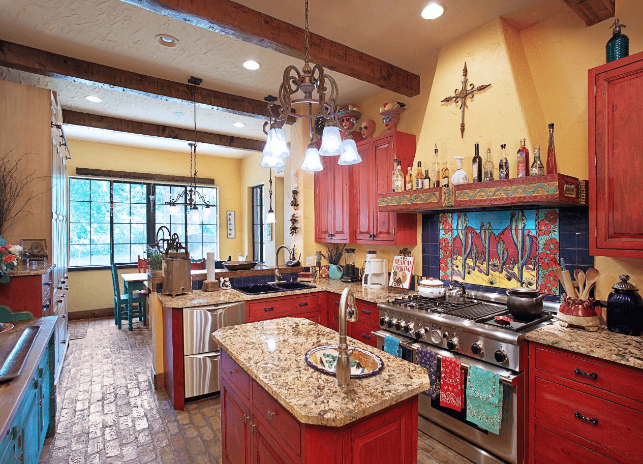 50 Southwestern Kitchen Ideas For 2019 Mexican Style Kitchens Eclectic Kitchen Mexican Kitchen Decor