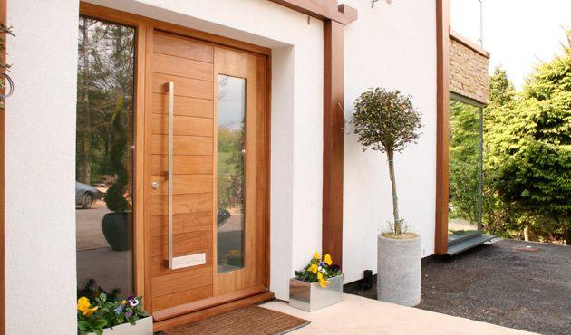 Uk Cedar Garage Door And Front Door Google Search Exterior House Doors Contemporary Front Doors Front Doors Uk
