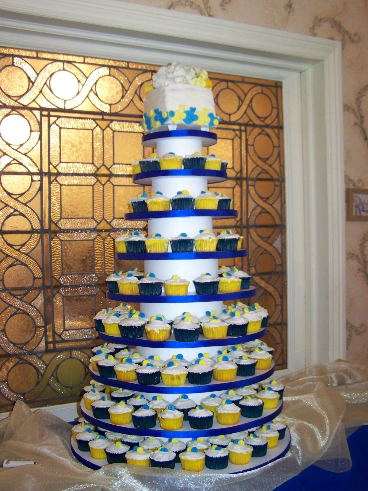 Royal Blue And Yellow Baby Shower Cake A Licious Cupcake Wedding