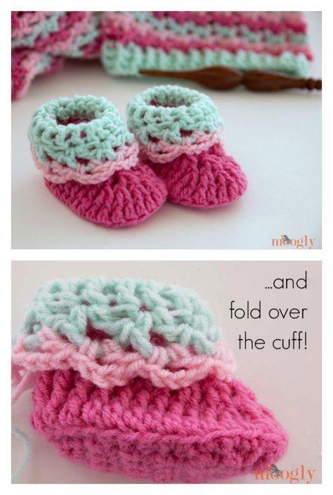 Pink Lady Baby Booties Free Crochet Patterns | Pinterest | Mütze ...