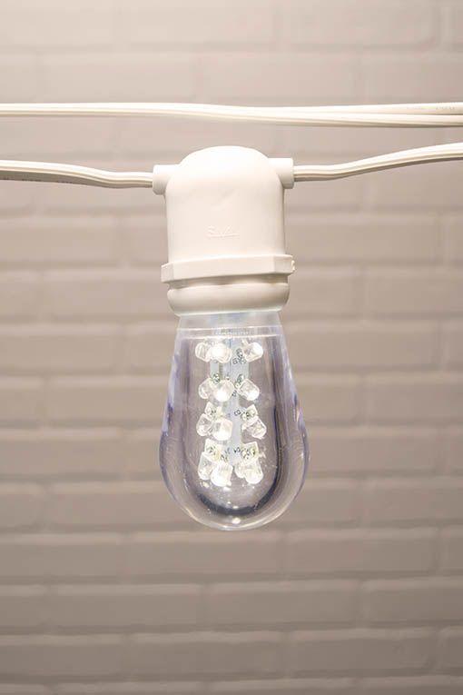 Commercial Globe String Lights, Acrylic Edison LED, 106 ft, White ...