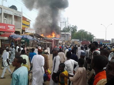 #Fire Outbreak Rocks Popular GSM Market In Kano State (Photos) #vibes247