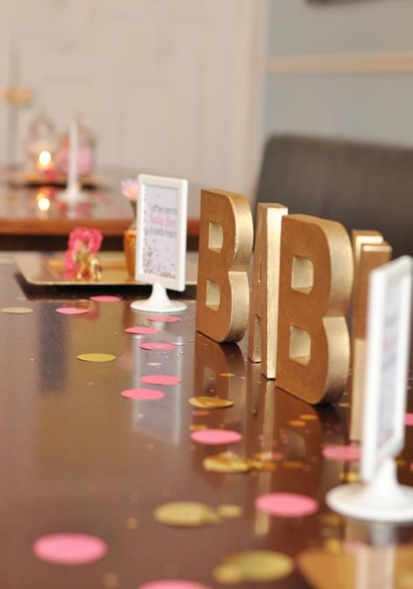 Confetti Baby Shower via Kara's Party Ideas