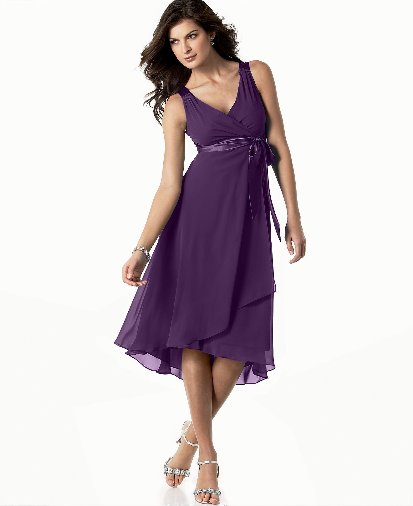 Evan Picone Dress Sleeveless Satin Tie Womens Dresses Macy s