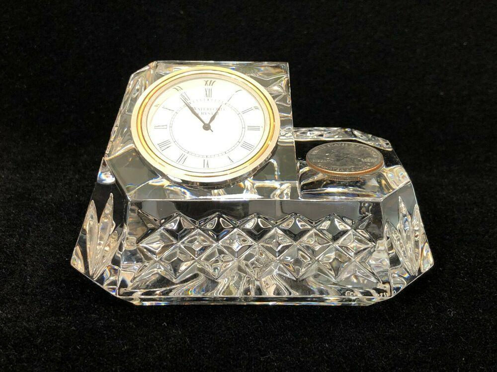 Waterford Crystal Westover Desk Clock Pen Holder Missing Pen Holder Waterford Crystal Desk Clock Pen Holders