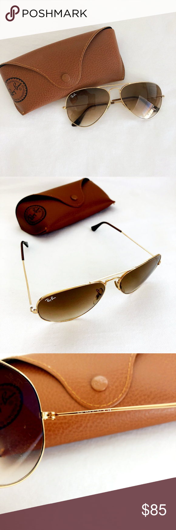 ec30a8bb24 Ray Ban- Gradient Aviator Sunglasses Lens size  58mm Style    3025  Excellent used