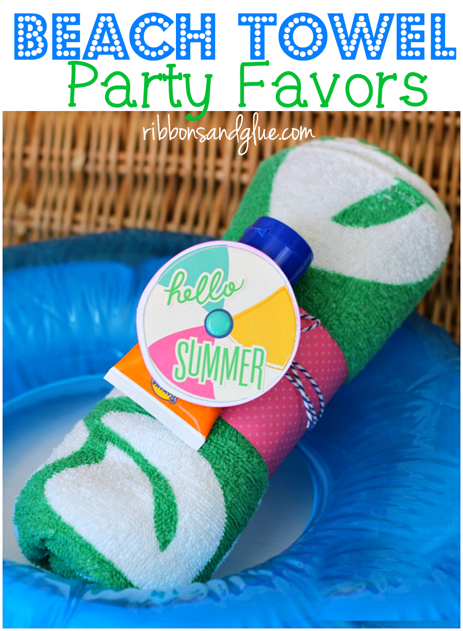 Beach Towel Pool Party Favors Pool Party Gift Pool Party Favors