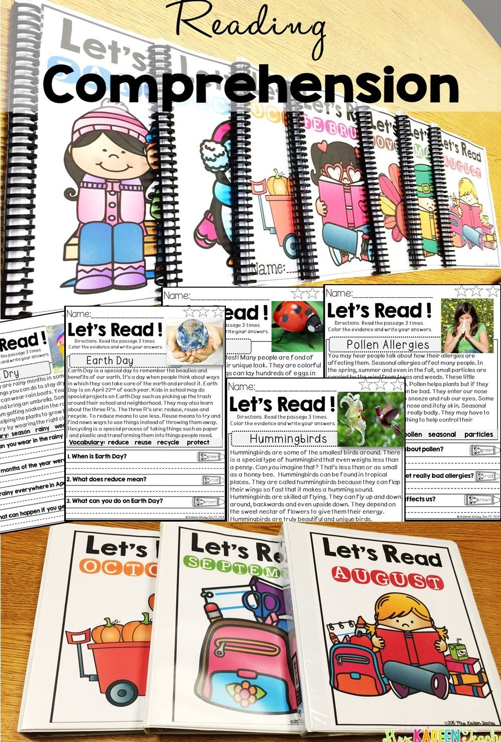 Guided Reading-Nonfiction All Year Text Evidence Readers | Kind