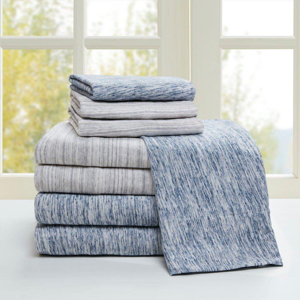 Space Dyed Cotton Jersey Knit Sheet Setblue Twin Xl In 2021 Sheet Sets Queen Urban Habitat Cotton Sheet Sets Jersey knit sheets twin xl