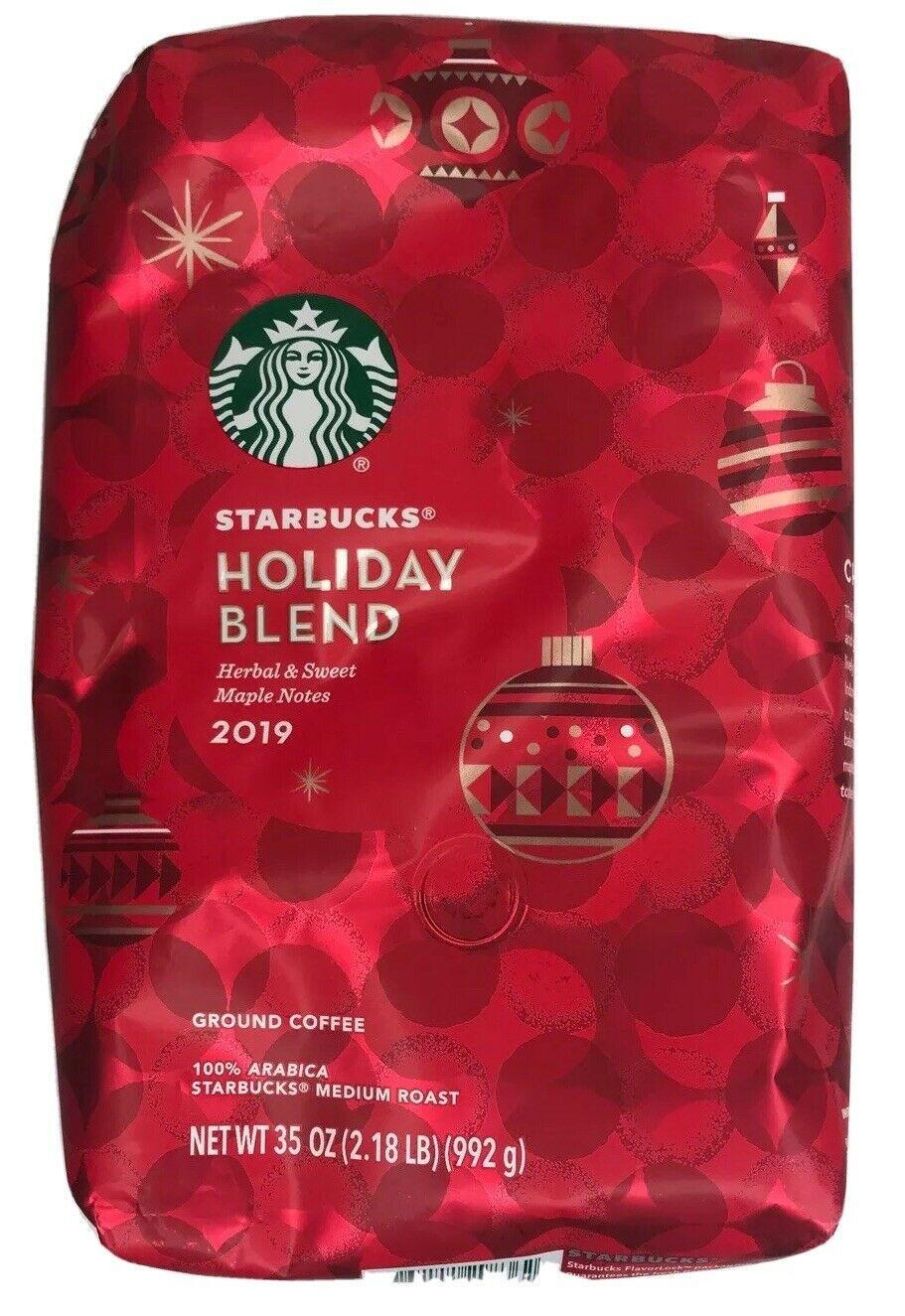 Starbucks Holiday Blend 2019 Ground Coffee Medium Roast Arabica 35 Oz 2 18 Lb Ideas Of Starbucks Coffe Starbucks Holiday Blend Holiday Coffee Holiday Blend