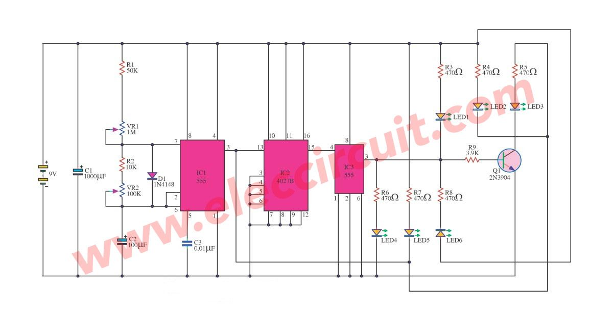 Traffic Light Flasher Circuit Information Of Wiring Diagram Xenon Strobe Simulate The Pinterest And Rh Co Uk Transistor
