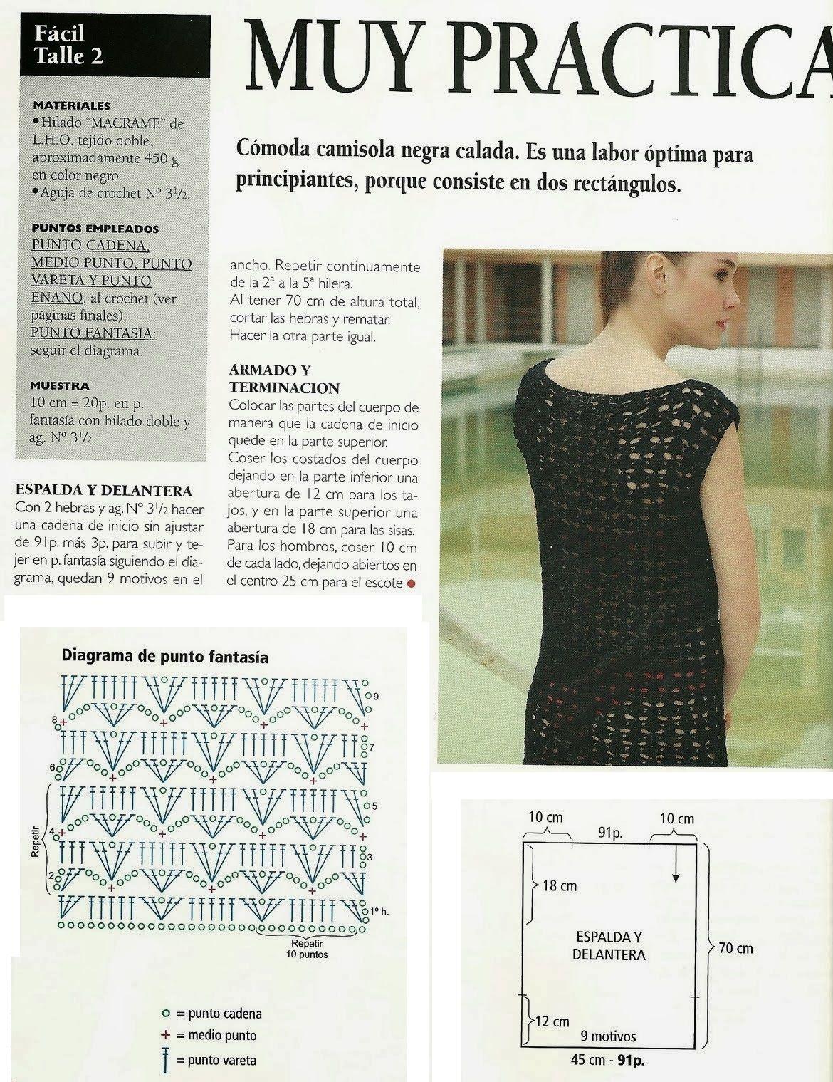 top+camisola+rejilla+de+crochet2.jpg (1170×1519) | cecilia roca ...