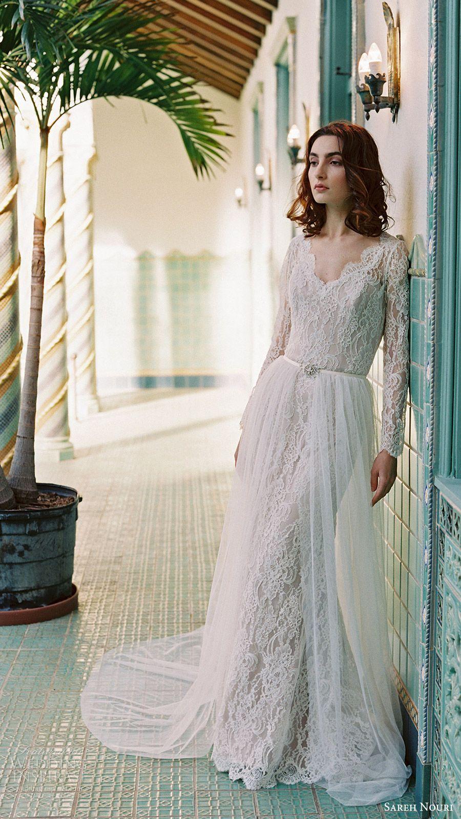 Sareh nouri bridal spring wedding dresses romantic wedding