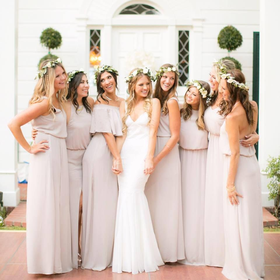 Flowers and Color Bridesmaid Dress