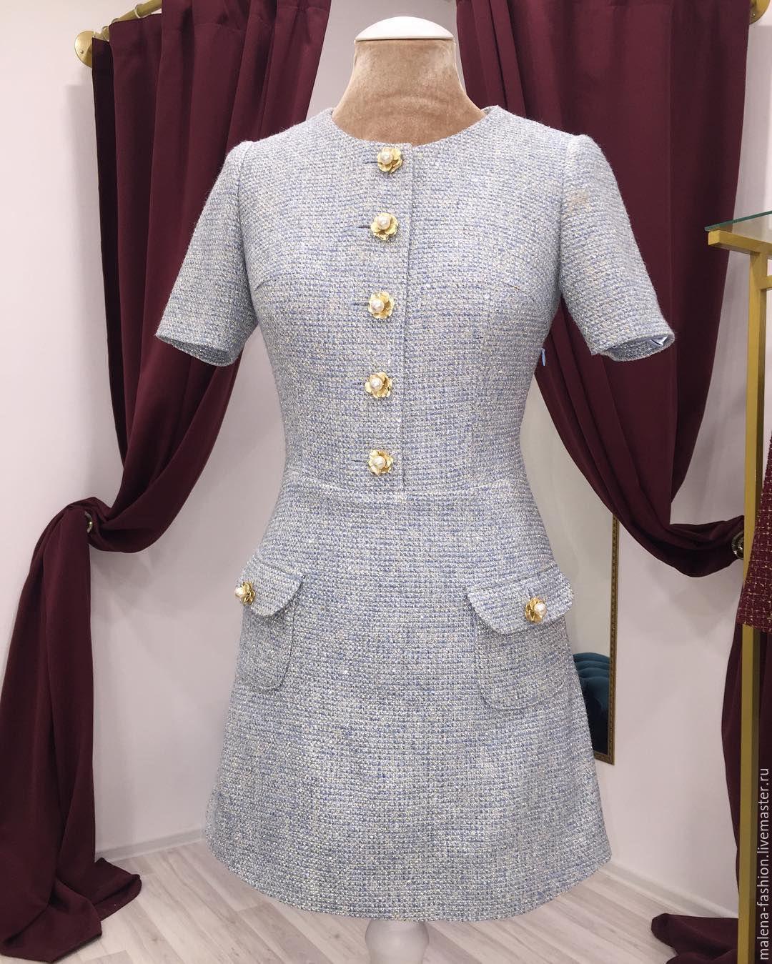 950dcf4d958 Купить Твидовое платье - черный