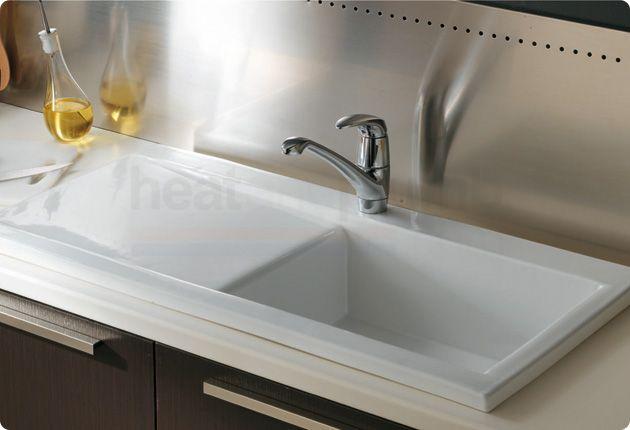 RAK Gourmet Dream Sink 2 - White Ceramic Kitchen Sink Single Bowl ...