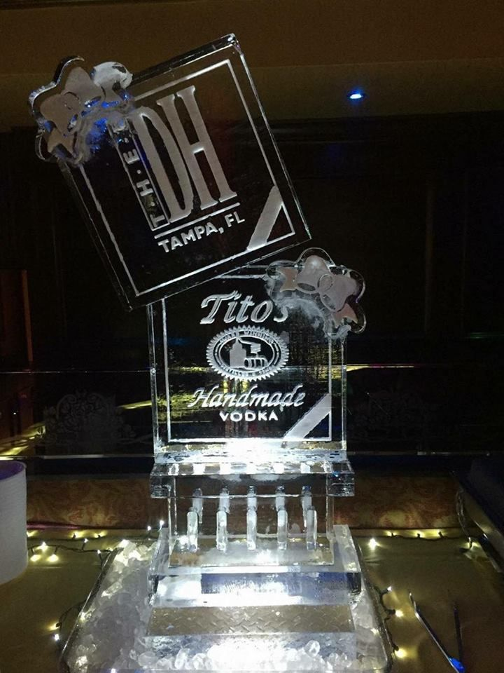 O S Homemade Vodka Ice Sculpture For An Event At Thee Dollhouse In Tampa Icesculptures