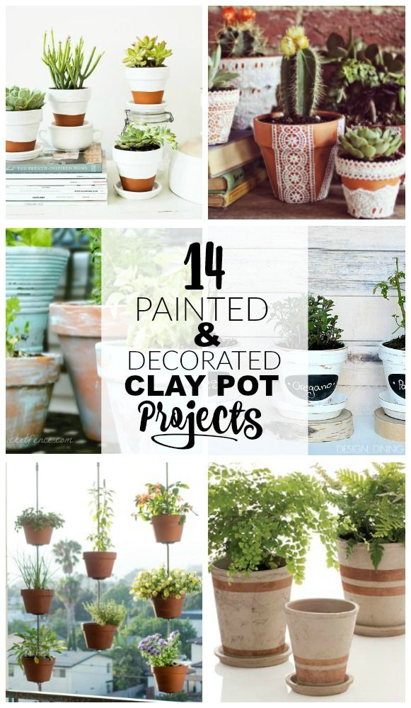14 Painted And Decorated Clay Pot Projects