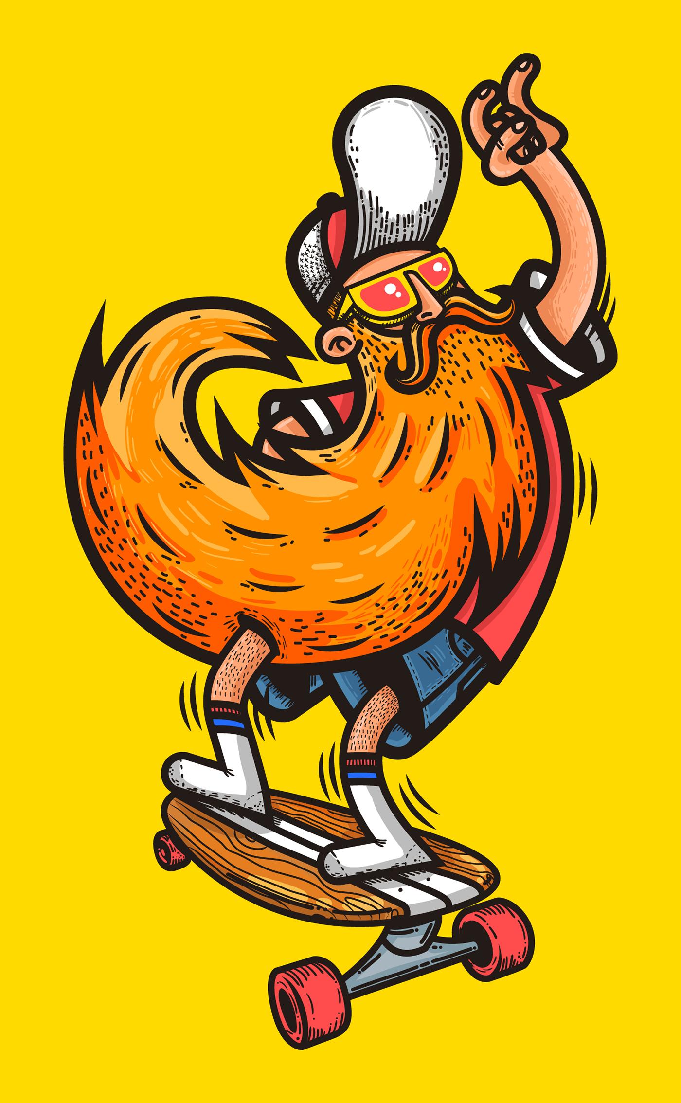 an illustration for a teeshirt design Art, Illustration