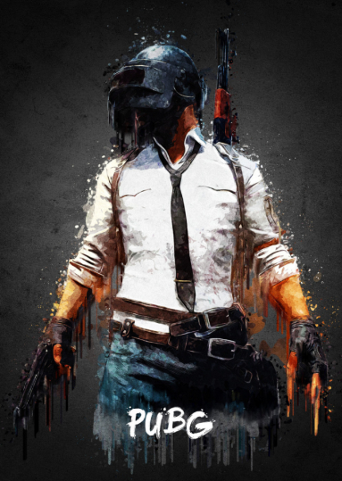 Pubg Metal Poster Print Gab Fernando Displate Mobile Wallpaper Game Wallpaper Iphone Gaming Wallpapers