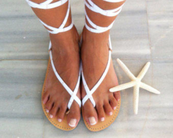 Pom Pom 'Let it Be' Festival Sandals by Borsis (ha