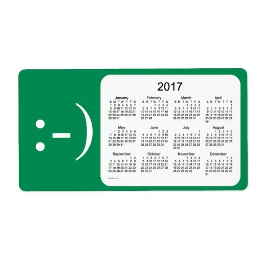 2017 Sea Green Calendar by Janz Label Janz Place -- Pod - mailing label designs