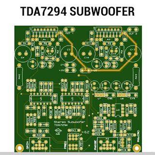 TDA7294 subwoofer amplifier PCB layout | Diy amplifier ...