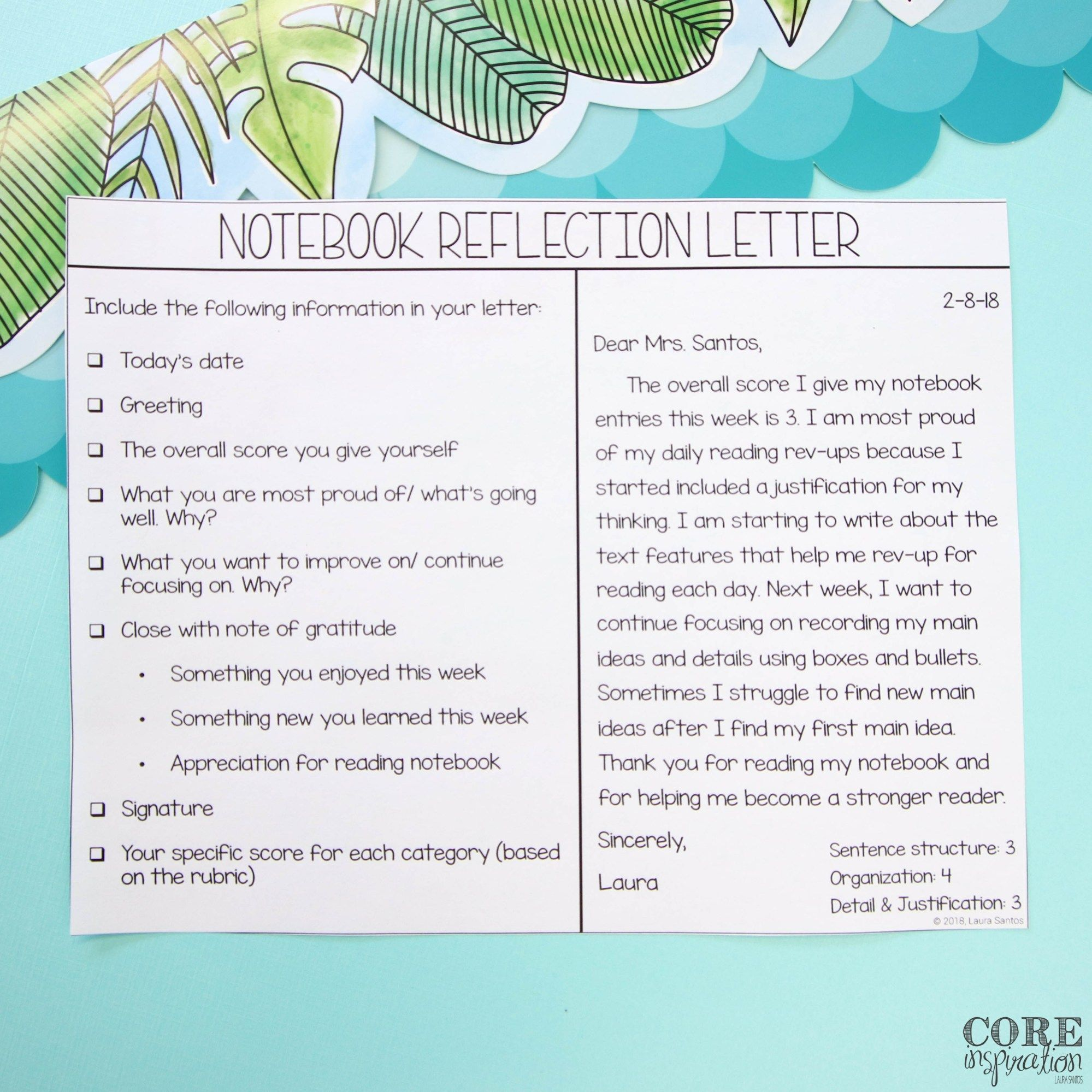 Reading Notebook Rubric Toolkit With Weekly Student