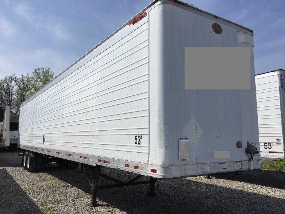 53 Great Dane Dry Van Trailer Stainless Rear Door Frame Bumper