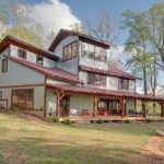 Wildwater's Corkscrew Cabin Back View with Tower Room - Houses - Exterior - Timber Frame HQ - http://timberframehq.com/timberframephotos/houses-exterior/?utm_content=buffer62eea&utm_medium=social&utm_source=pinterest.com&utm_campaign=buffer