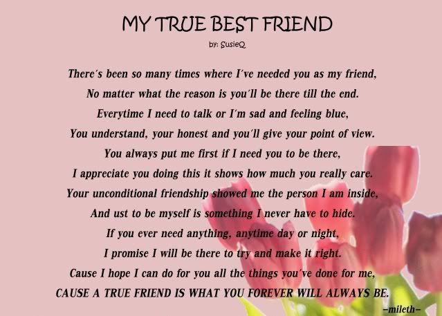 Friendship Poems For Best Friends 6