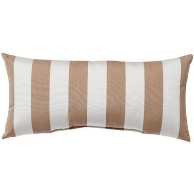 Home Decorators Collection Sunbrella Maxim Heather Beige Long Outdoor  Lumbar Pillow