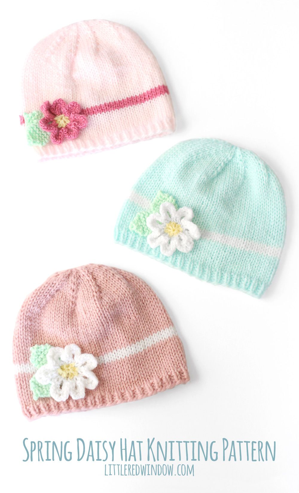 Spring daisy hat knitting pattern knitting patterns patterns spring daisy hat knitting pattern bankloansurffo Image collections
