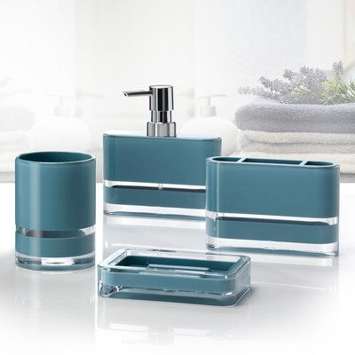 Immanuel Majesty 4-Piece Bathroom Accessory Set Color: Teal ... on teal luggage sets, teal melamine dinnerware sets, teal and coral wedding shower invitations, teal ceramic bathroom accessories, teal home decor accessories, teal jewelry sets, teal and silver bathroom accessories, teal bathroom furniture, teal bath sets, teal bathroom accessories walmart, teal bedding sets, teal and green decorating ideas, teal kitchen sets, teal sheets sets, teal toilet seat, teal cookware sets, teal blue and brown bathroom sets, teal bathroom accessory sets, teal tiles,