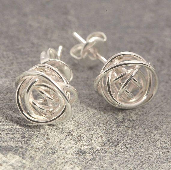 Photo of Earrings – Studs – Wire Earrings – Silver Stud Earrings – Unique Earrings – 925 Earrings, Simple Earrings, Wire Wrapped Earrings, OtisJaxon