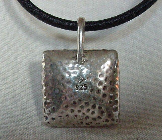 Modernist vintage pounded or hammered 925 silver pendant necklace modernist vintage pounded or hammered 925 silver pendant necklace silpada mark aloadofball Images