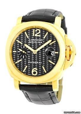 """Panerai Gent's 18K Yellow Gold PAM 140 """"Luminor Marina"""" Strapwatch."""