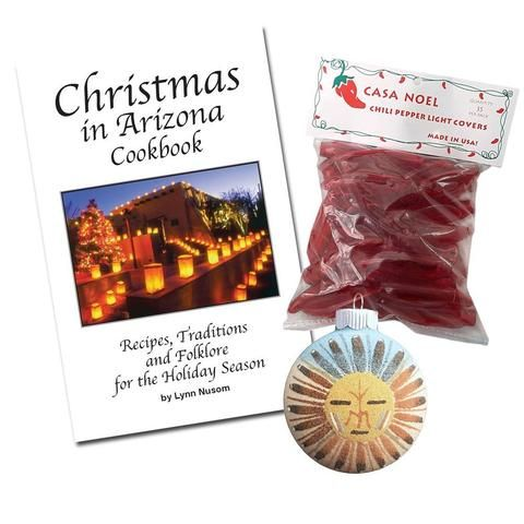 christmas in arizona cookbook red chili pepper mini christmas light covers and sandpainting tree