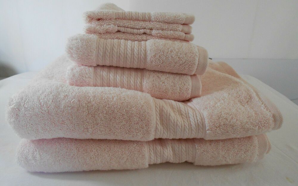 Ralph Lauren Greenwich Six Piece Bathroom Towel Set Chiffon Light