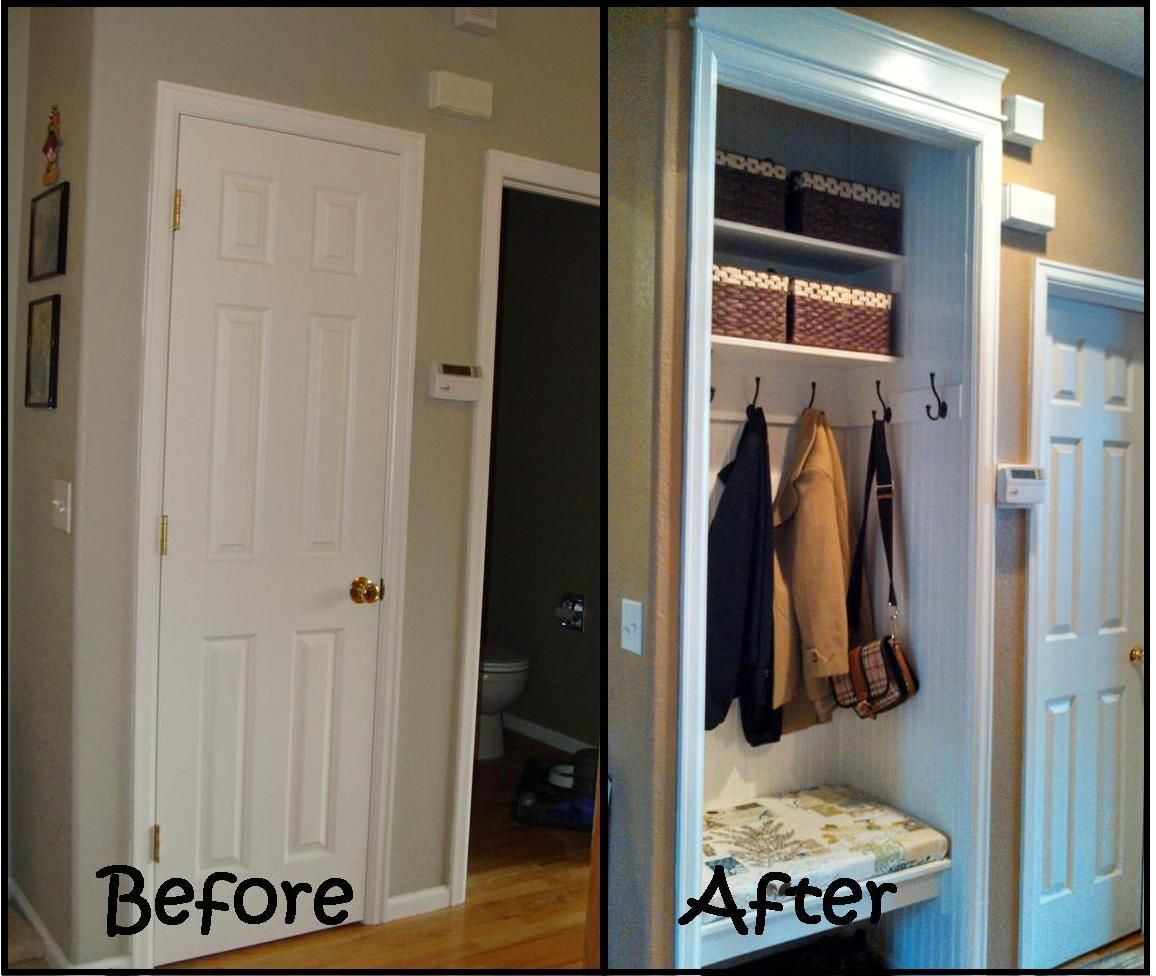 Before And After Closet Remodel Entryway Closet Closet Makeover