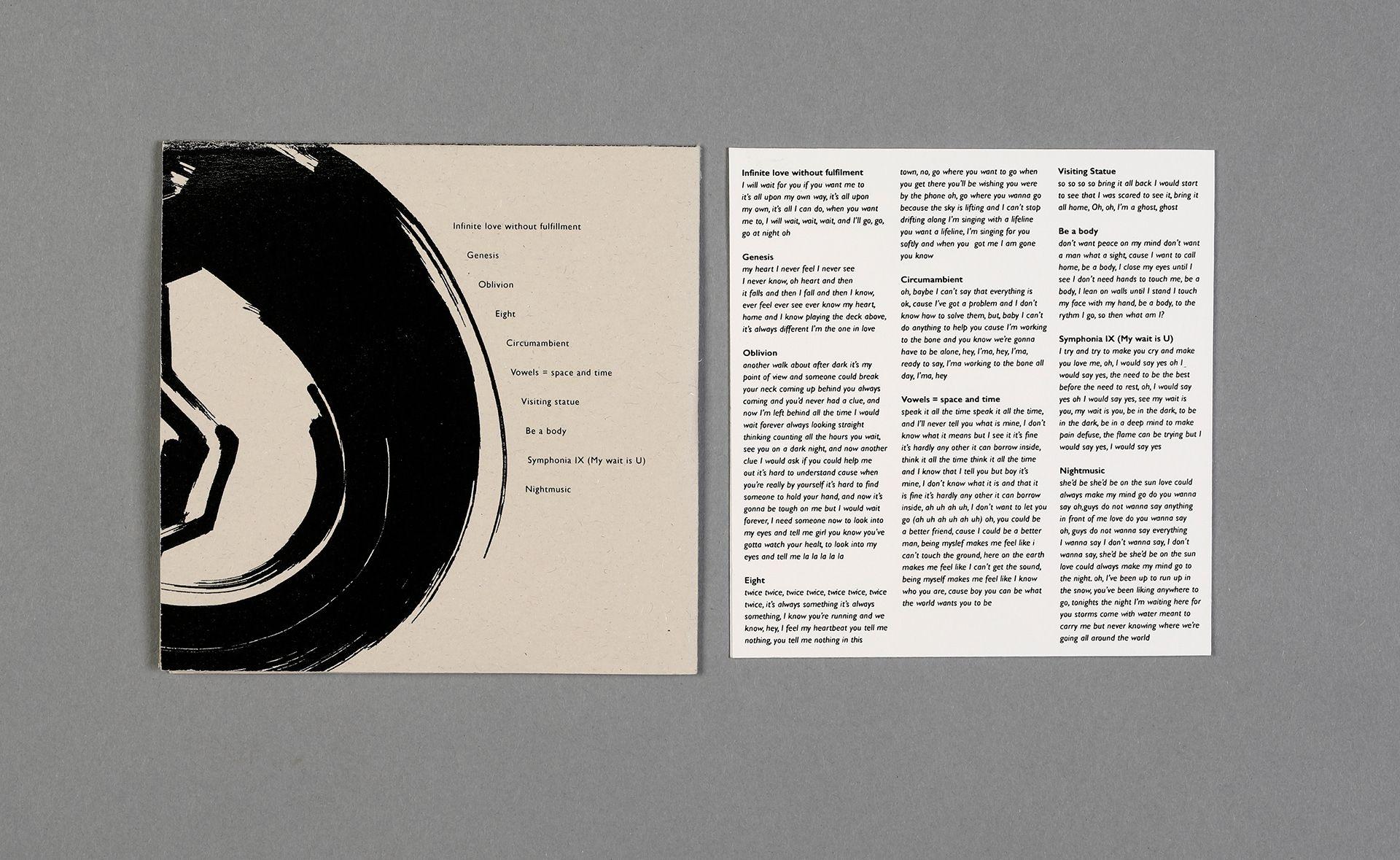 Ok Go The Writing S On The Wall Lyrics Visions Album Cover Lyric Book On Behance Book Design Layout Album Covers Book Design