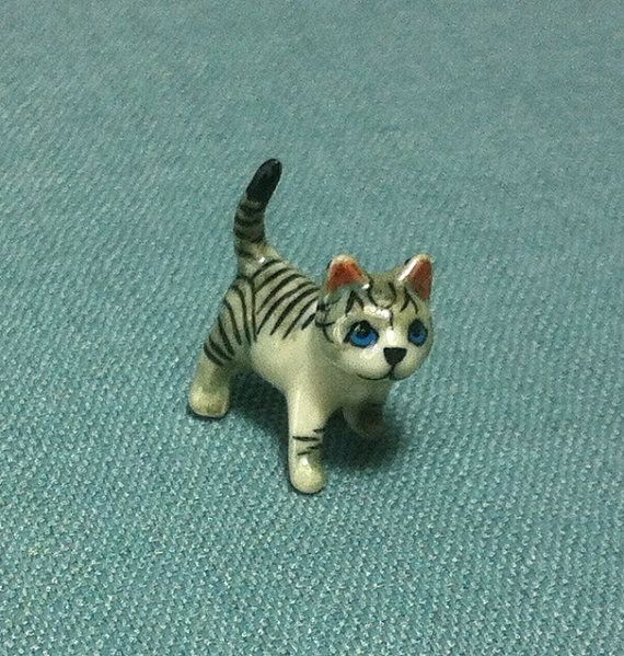 Hey, I found this really awesome Etsy listing at https://www.etsy.com/listing/195564806/miniature-ceramic-cat-kitty-baby-mini